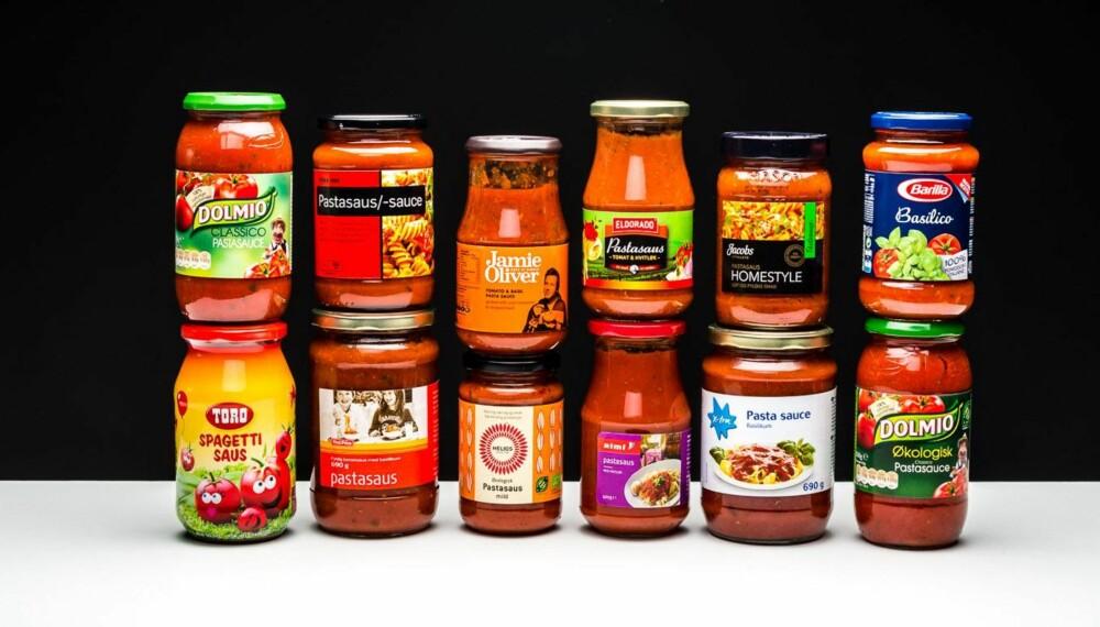 NEDSLÅENDE: Kjemisk smak dominerer pastasausene, og de dyre er slett ikke best.