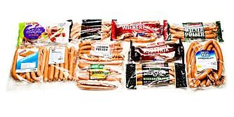 TEST AV WIENERPØLSER: Vi har testet 11 ulike typer wienerpølser laget av svin- og storfekjøtt.