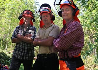 TESTPANELET (fra venstre): hans Ole Arnesen, Øystein Mørk og Vegard Aarnes.