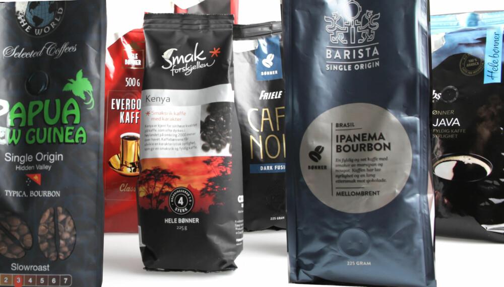 STOR FORSKJELL: Kaffebønner fra dagligvarebutikkene spriker veldig i kvalitet og smak.