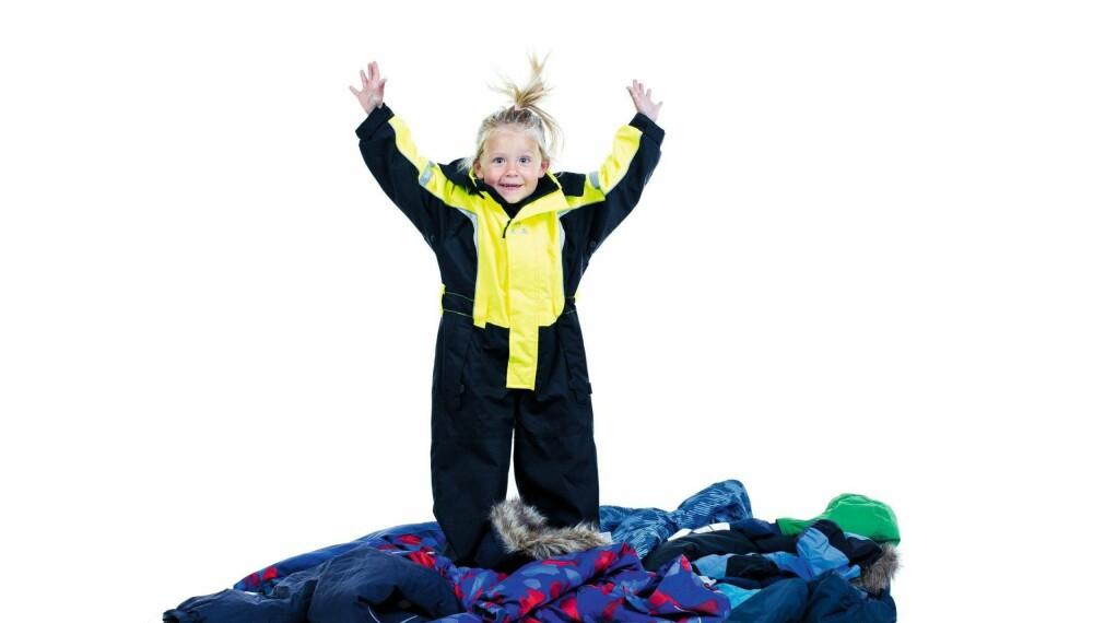 UNIVERN: Produsenten av verneutstyr til industri er ikke mest kjent for barneklær. Men vinterdressen får toppscore i alle kategorier. FOTO: Astrid Waller