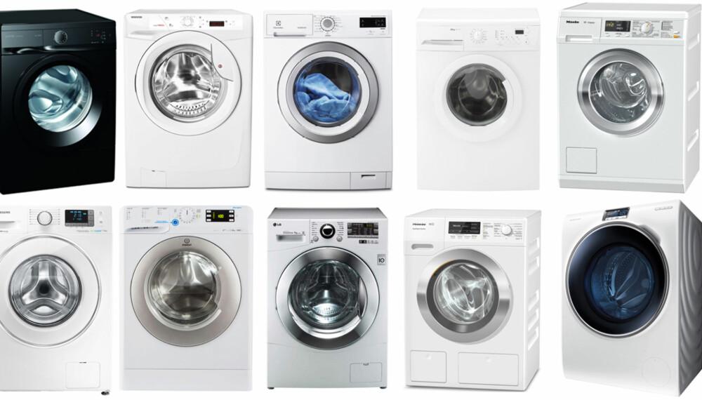 TEST AV VASKEMASKINER: Vi har testet 10 vaskemaskiner. Selv de dyreste skyller bare middels godt.