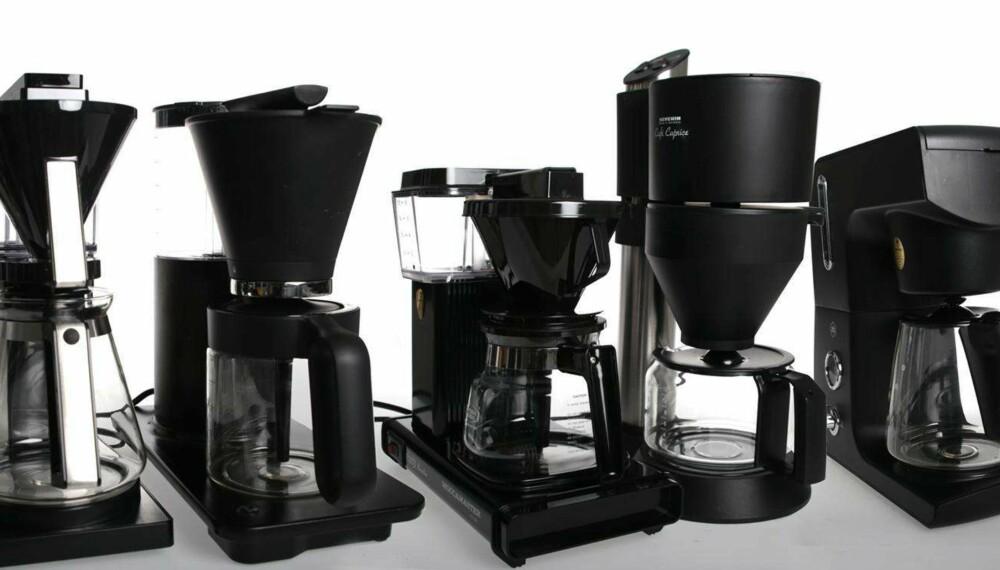 Test: Vi har testet fem kaffetraktere