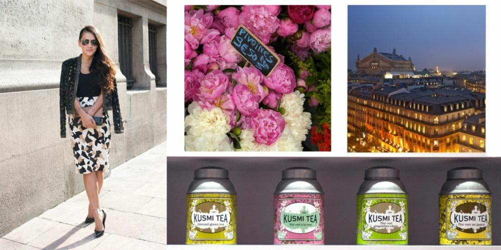 I PARIS: Alli Sim besøkte blomsterbutikken Rambert Rigaud i sentrum av Paris, gikk turer ved Left Bank og jaktet etter den perfekte koppen med te.