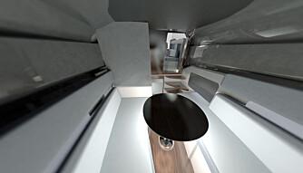 KABIN: Discover har et brukbart krypinn under dekk. (ILLUSTRASJON: Hydrolift)