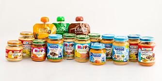 BARNEMAT FOR DE MINSTE: Vi har testet 15 ulike barnematprodukter for barn under 12 mnd.