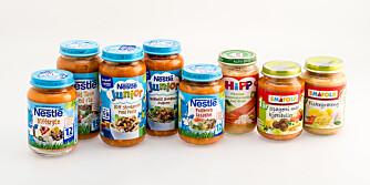 BARNEMAT FOR LITT STØRRE BARN: I vår test har vi vurdert 8 ulike produkter anbefalt for barn fra 1 til 3 år.