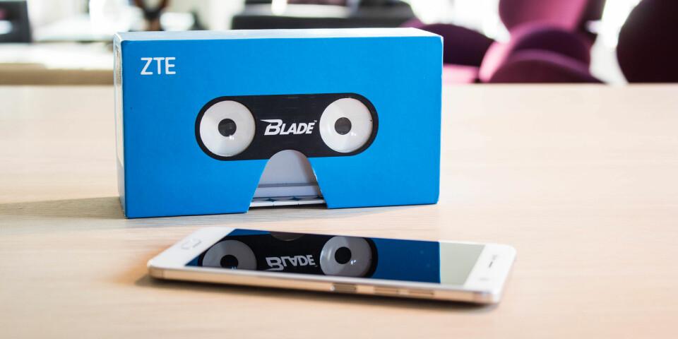 3D: ZTE Blade V8 blir levert i en eske som også kan brukes som en enkel 3D-brille. Det er morsomt med 3D-foto, men vi skulle gjerne sett at mobilen også støtte 3D-film.