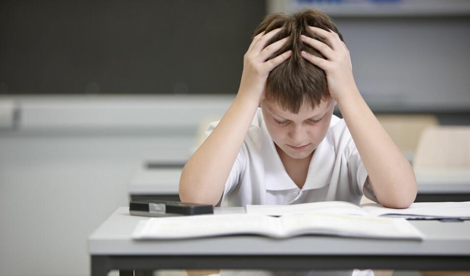 STRESS HOS BARN: Det finnes flere årsaker til at barn opplever stress, og ofte kommer det til syne ved at barnet har endret adferd. FOTO: Getty Images.