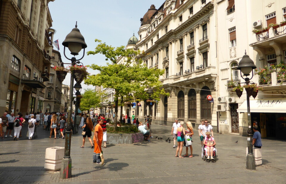 Vakre Beograd i Serbia.