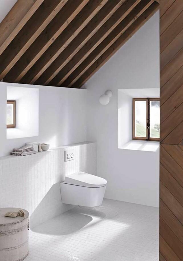 Geberit AquaClean Sela gir en ny dimensjon til spa-baderommet, med stilrent design og innovative funksjoner. Toalettet vasker deg skånsomt med en temperert vannstråle, så du får en ren og frisk følelse etter toalettbesøk.