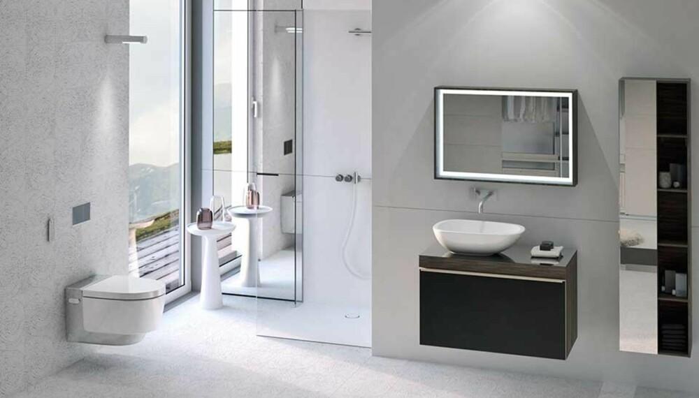 Gjør badet ditt til et velværerom, hvor du kan slappe av, lade opp og få et tiltrengt pusterom i en hektisk hverdag - mens du er omgitt av nydelig, innovativt design. Få en gjennomført spa-følelse med toalettet Geberit AquaClean Mera, som vasker deg skånsomt etter toalettbesøk.