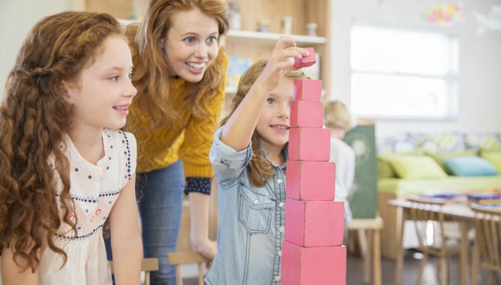 OVERGANG FRA BARNEHAGE TIL SFO: Skolefritidsordningen er en viktig sosial arena for barn, og gjennom lek dannes sterke vennskap. FOTO: Getty Images.