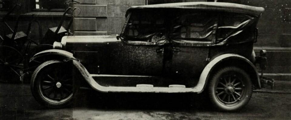 Rustads Dodge, slik den ble funnet på Grev Wedels plass i Oslo sentrum.