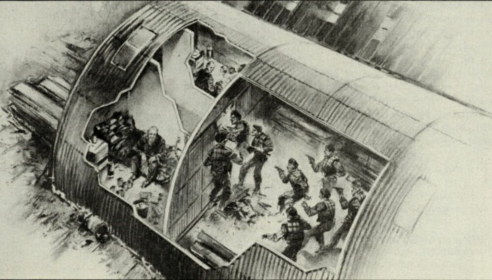 Denne illustrasjonen, hentet fra originalartikkelen fra 1984, viser aksjonen hvor Heineken og Doderer ble frigitt.