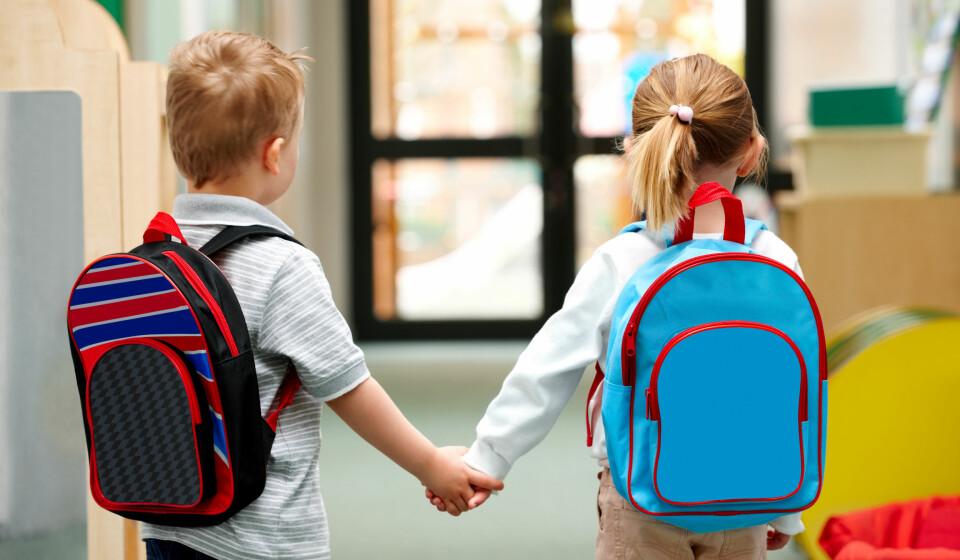 BARNEHAGESTART: Hva trenger den lille egentlig til barnehagestart? Holder det med en ryggsekk? Her er oversikten. FOTO: Getty Images.