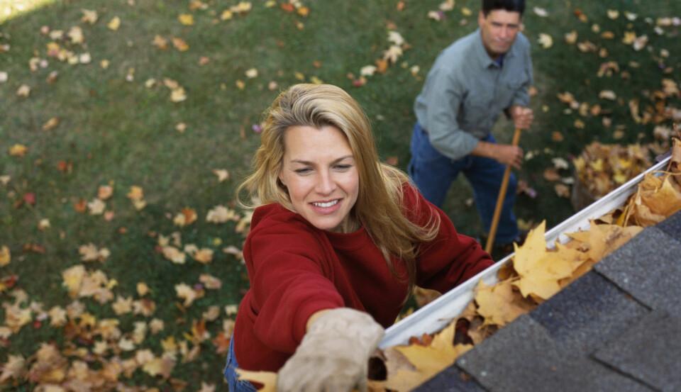 RENSE TAKRENNER: Vi gir deg guiden til hvordan og hvorfor du bør rense takrennene. FOTO: Getty Images.