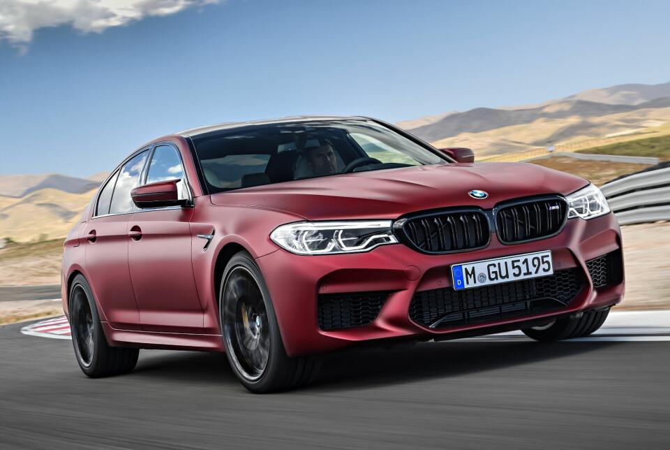 M5: V8-motoren yter hele 600 hk, med et dreiemoment på 750 Nm