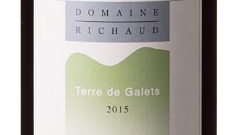 GODT KJØP: Richaud Terre de Galets Côtes du Rhône 2015. Foto: Vinmonopolet
