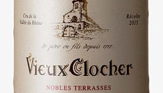 GODT KJØP: Vieux Clocher Gigondas Nobles Terrasses 2015. Foto: Vinmonopolet