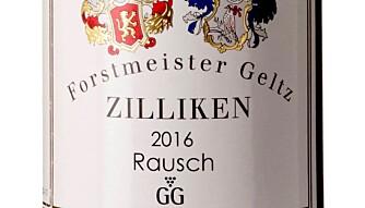 BEST I TEST: Zilliken Rausch Riesling GG 2016. Foto: Vinmonopolet
