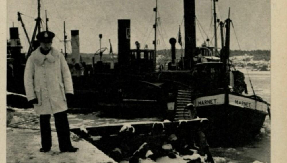 """Slepebåten """"Marnet"""" kom seg uskadd over til Strømstad."""