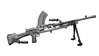 Gruppen trente blant annet med brengun-maskingevær. I NS sine lokaler. FOTO: KEN/Wikimedia