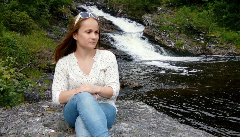 HÅP: På lag med naturen får Jannicke troen på en bedre verden. FOTO: Privat