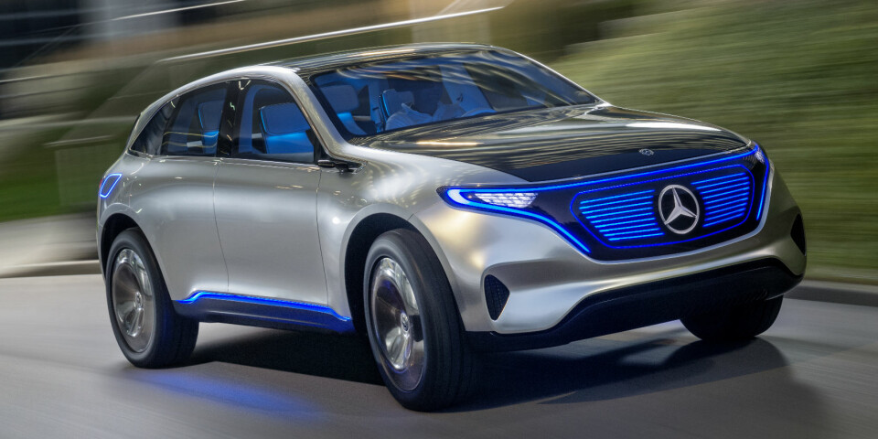 EL-SUV: Concept EQ er en forsmak på en elektrisk SUV fra Mercedes som kommer i 2019. Den kan nå reserveres, og Norge blir først i startblokka.
