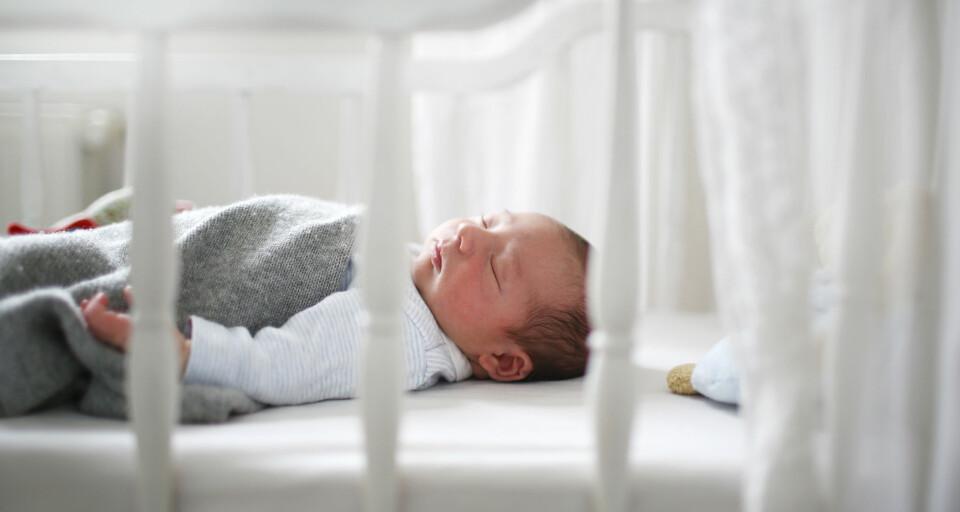 BABY SOM SOVER HELE NATTEN: At babyen sover hele natten er en drømmesituasjon for foreldre, bokstavelig talt. Her får du tipsene for at babyen skal sove hele natten. FOTO: Getty Images.