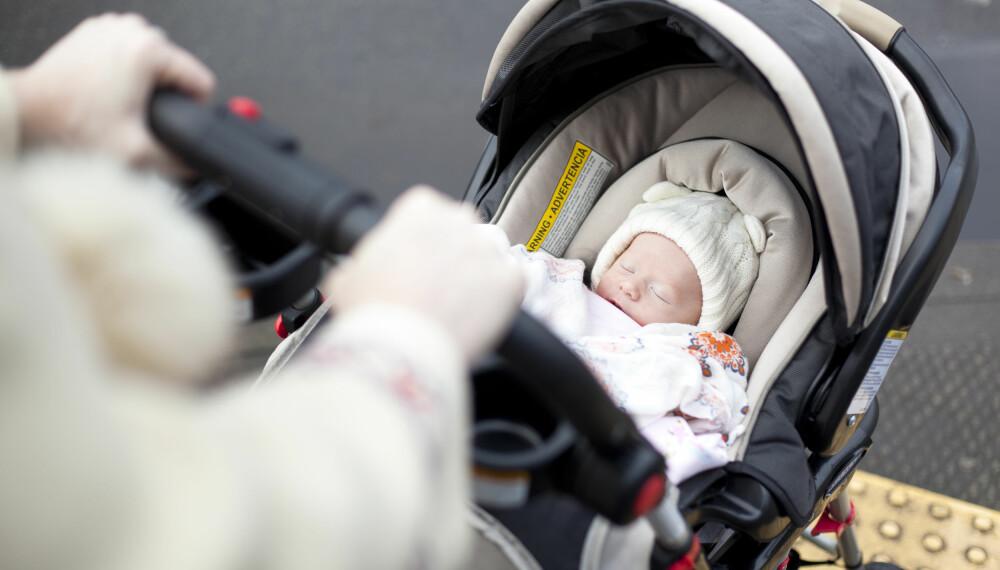 BABYENS SØVN PÅ DAGTID: En baby på fem måneder har ulikt sovebehov enn hva en nyfødt baby har, men her har du noen triks til hvordan å få baby til å sove på dagtid. FOTO: Getty Images.