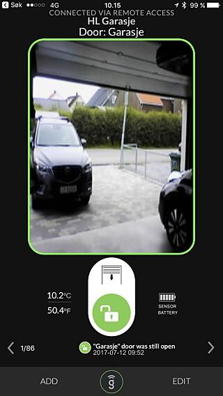 HVEM DER: Du kan sjekke hvem som åpner garasjen din om du kobler til et webkamera til Gogogate2.