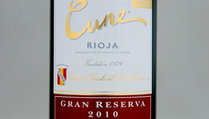VIN TIL LAM: Cune Rioja Gran Reserva 2010. Foto: Arnie Stalheim