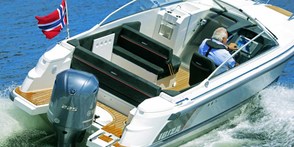 KRAFTKAR: Ibiza 640 Touring kan godt utstyres med mer hestekrefter enn standarden. (FOTO: Terje Bjørnsen)
