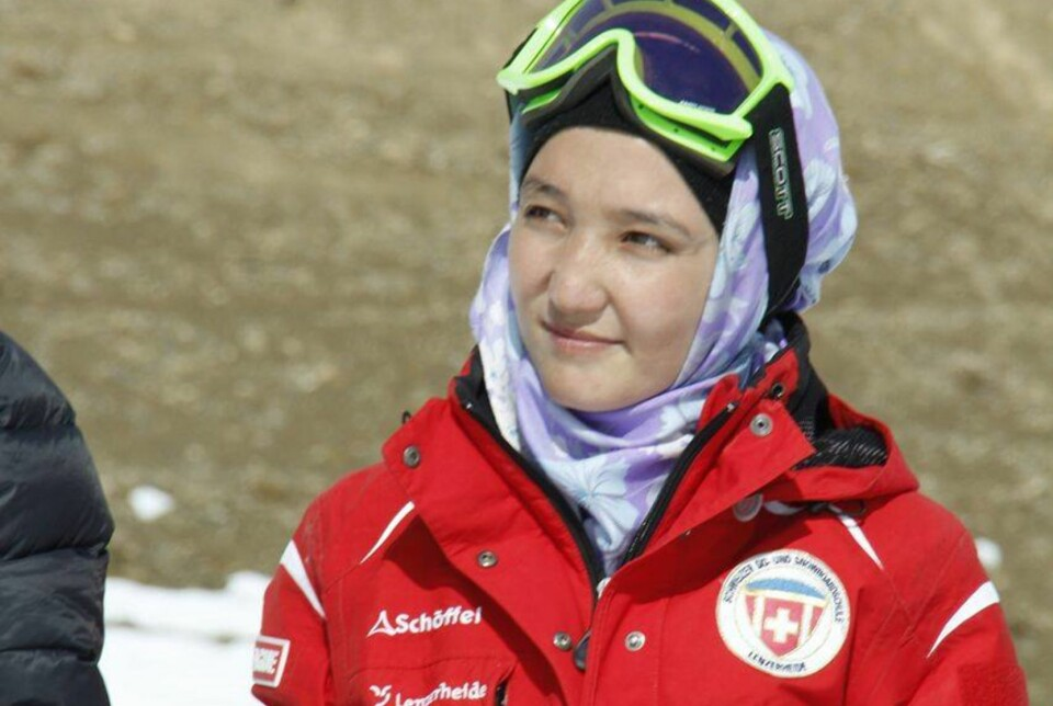 DISKRIMINERING: Zakia bruker ski og annen sport i kampen for kvinners rettigheter i Afghanistan. FOTO: Privat