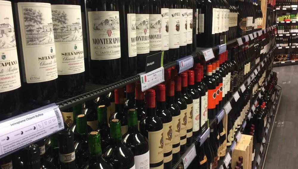 POLSLIPP NOVEMBER 2017: Det er mye god rødvin i polslippet for november, også fra Italia. FOTO Arnie Stalheim