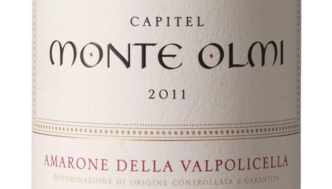 GODT KJØP: Tedeschi Capitel Monte Olmi Amarone della Valpolicella Classico Riserva 2011. Foto: Vinmonopolet