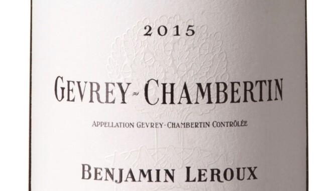 GODT KJØP: Leroux Gevrey-Chambertin Vieilles Vignes 2015. Foto: Vinmonopolet