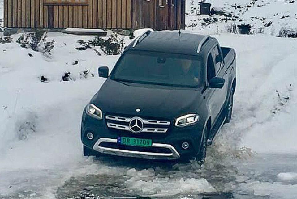 I NORGE: Mercedes X-klasse er endelig i Norge. Foto: Mercedes