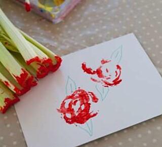Fint rosekort til mor.