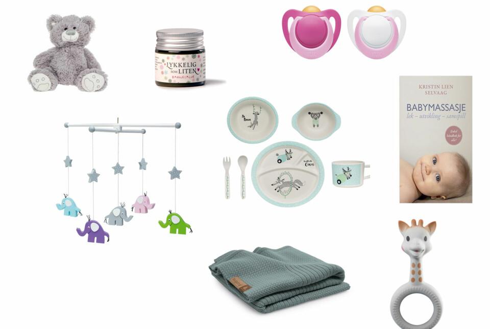 JULEGAVE 0-6 MND: Frem til babyen er et halv år er det fint å få ting babyen har bruk for. FOTO: Produsentene.