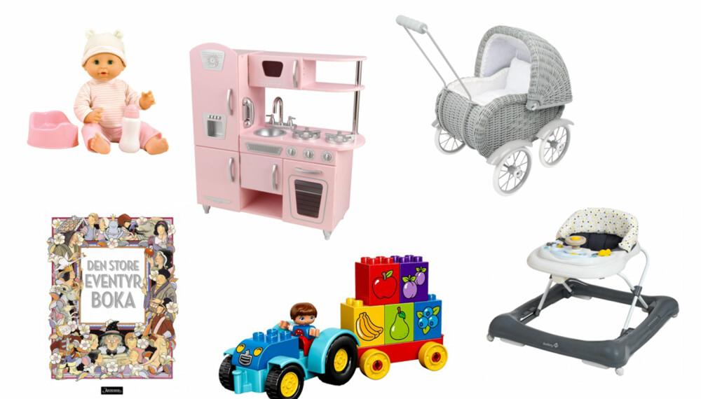 JULEGAVE 1-2 ÅR: Ett- og toåringen kan være vanskelig å kjøpe gave til, men leker er noe de vil sette pris på, og kan vokse sammen med. FOTO: Produsentene.