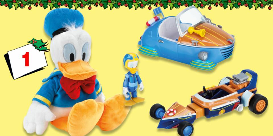 Dagens premie; Donald-kosedyr og Donald-racerbil