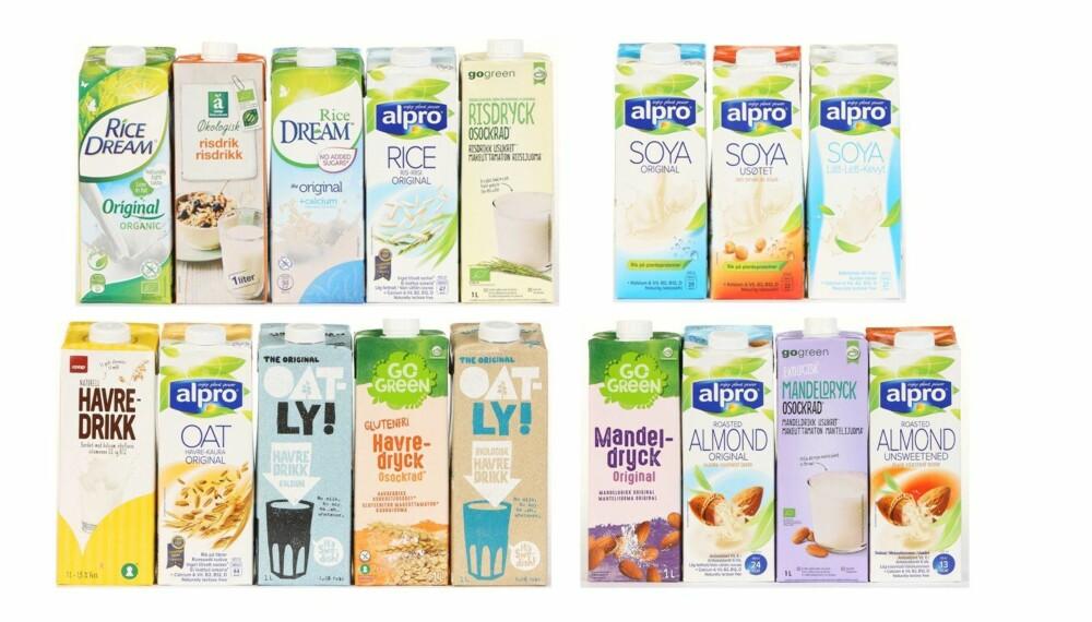 """""""MELK"""": De fleste av disse alternative drikkene er ganske næringsfattige i forhold til vanlig kumelk. FOTO: Petter Berg"""