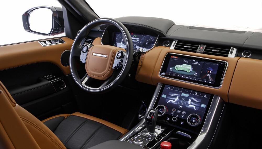 N YTT: Range Rover Sport kommer med samme betjeningspanel og samme brukergrensesniitt som Range Rover Velar.