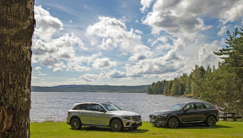 VINNER OG TAPER: Mercedes GLC 350e vinner testen klart på gjennomførte premium-bilegenskaper. (FOTO: Terje Bjørnsen)