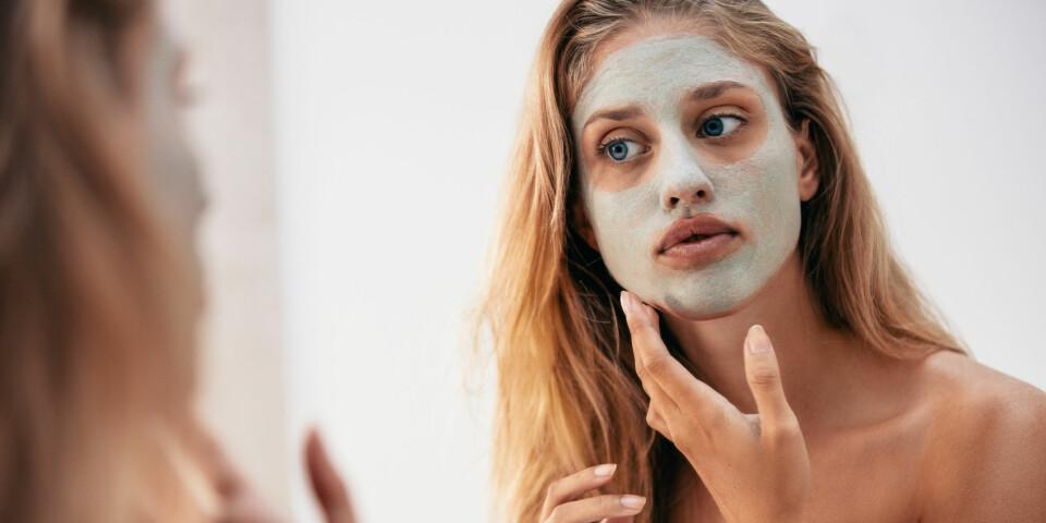 ANSIKTSMASKE: Bruk en ansiktsmaske som er tilpasset din hud, enten den er tørr, fet eller normal. Foto: Gettyimages.com.