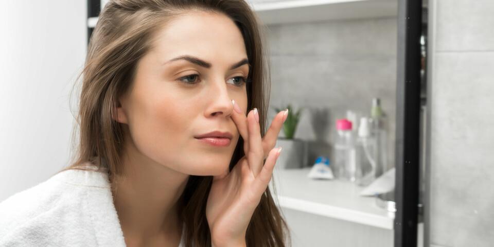 SENSITIV HUD: Definisjonen på sensitiv hud er en hud som reagerer på mye, kan føles rød, varm og stram. Foto: Gettyimages.com.