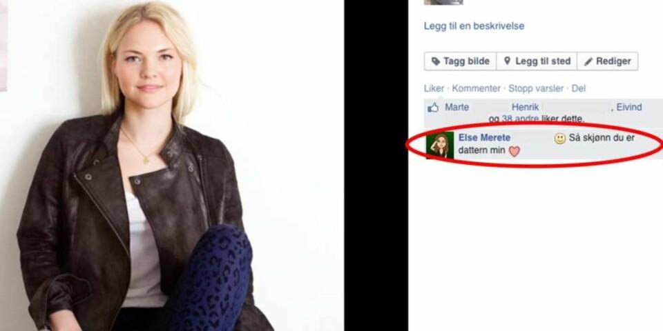 Vilde Kristine Said skriver kommentar om hva mødre ikke må gjøre på Facebook. Foto: privat