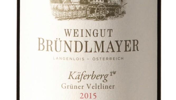 GODT KJØP: Bründlmayer Langenloiser Käferberg Grüner Veltliner 2015. Foto Vinmonopolet